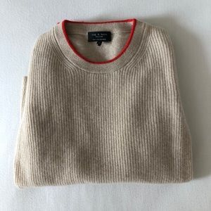 Rag & Bone Natural Cashmere Knit Sweater